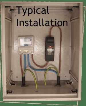 Recessed electric meter box 40cm x 50cm x 21cm emiter for Sideboard 3 meter lang