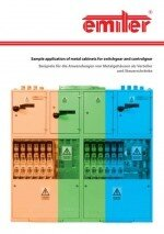 Sample applications of metal cabinets for switchgear and controlgear