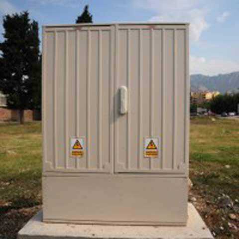 GRP substation enclosure
