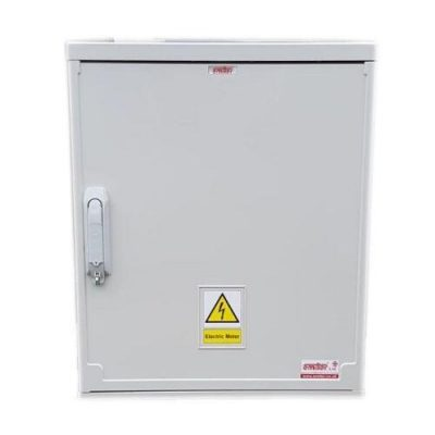 Electric Meter Box 530x600x320mm Surface Mounted Front View Close Up