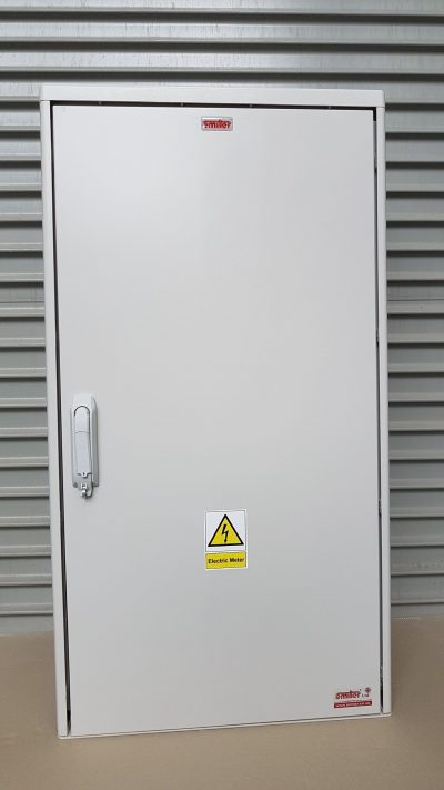 GRP Electric Meter Box W605 x H1150 x D320 mm, Front View Close Up