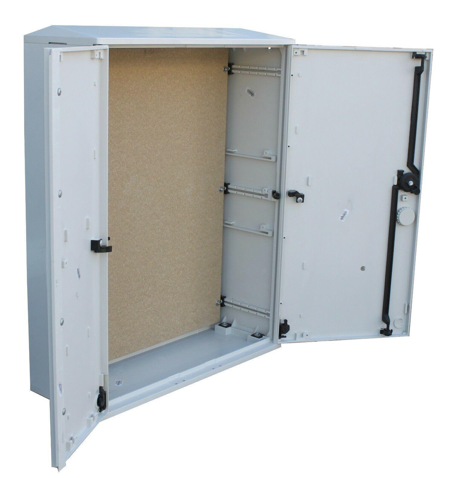 GRP Electric Enclosure, Kiosk, Cabinet, Meter Box, Housing (W660 x H800 x D245mm) Inside Open Doors
