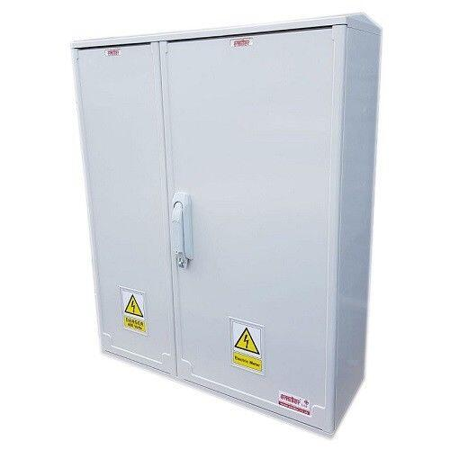 GRP Electric Enclosure, Kiosk, Cabinet, Meter Box, Housing (W660 x H800 x D245mm) Right Front View