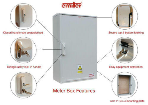 GRP Electric Enclosure, Kiosk, Cabinet, Meter Box, Housing (W660 x H800 x D245)mm Diagram