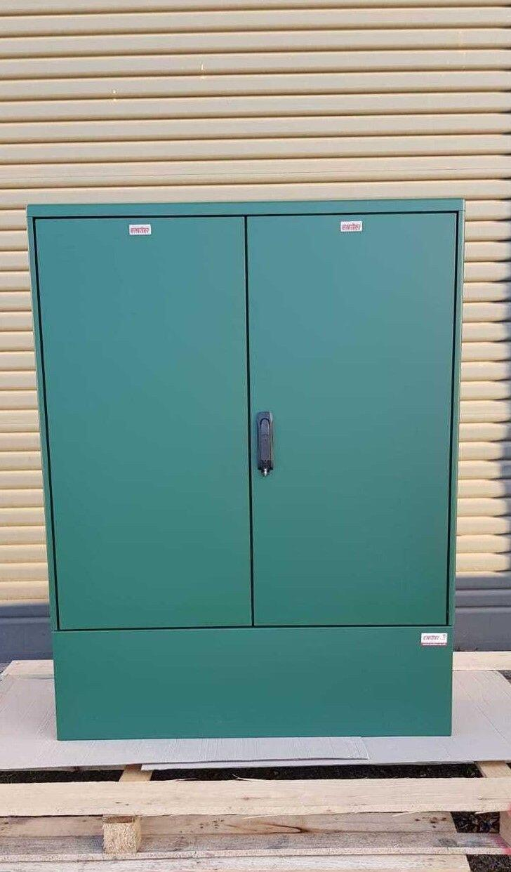 GRP Electric Enclosure, Kiosk, Cabinet, Meter Box, Housing Green 1130x1490x320 mm Front View