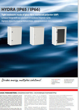 Hydra GRP Cabinets Catalogue 2018